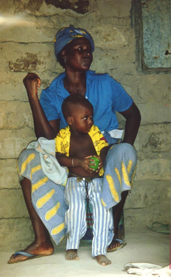 Gambian mother and son