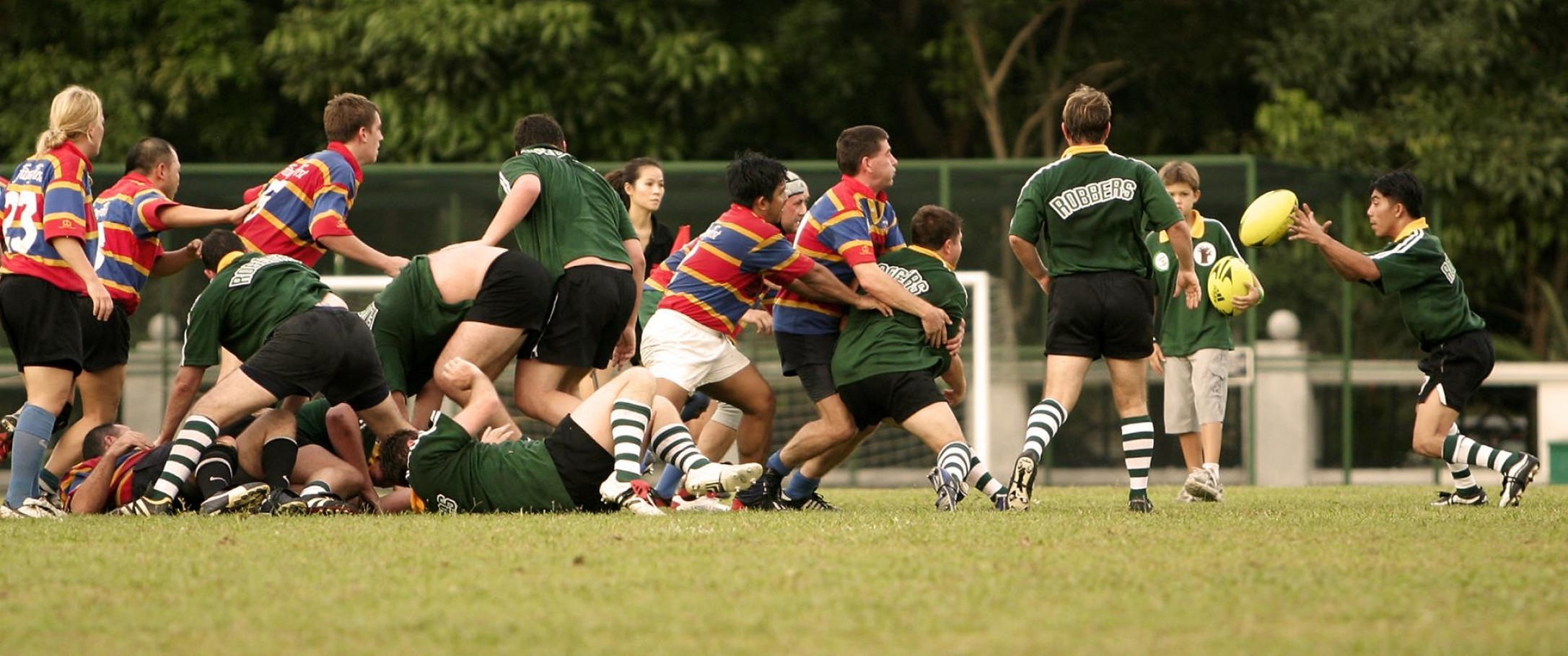 Collapsed Rugby scrum