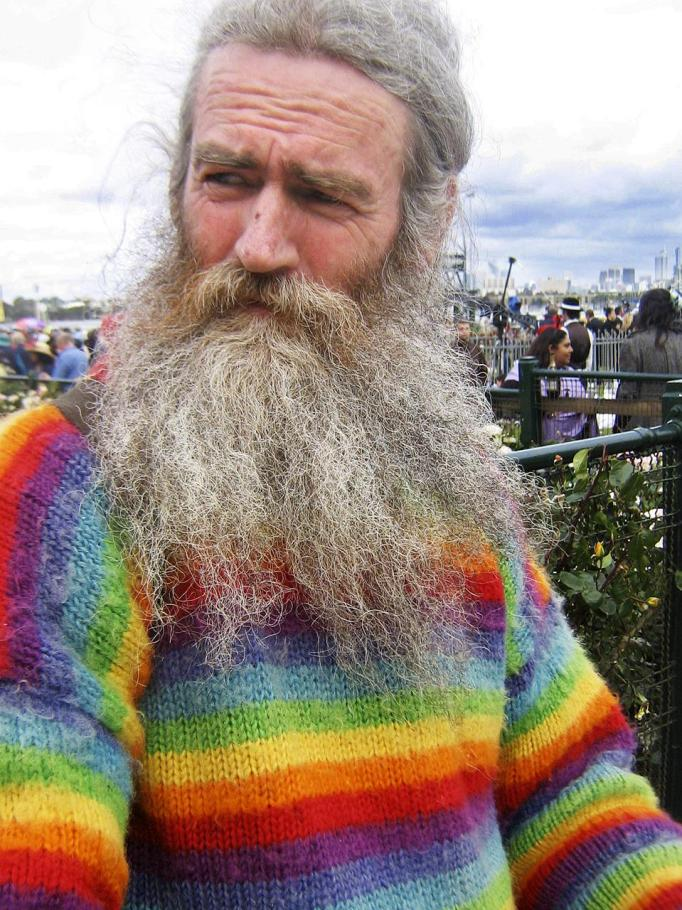 Hippy Rainbow Man