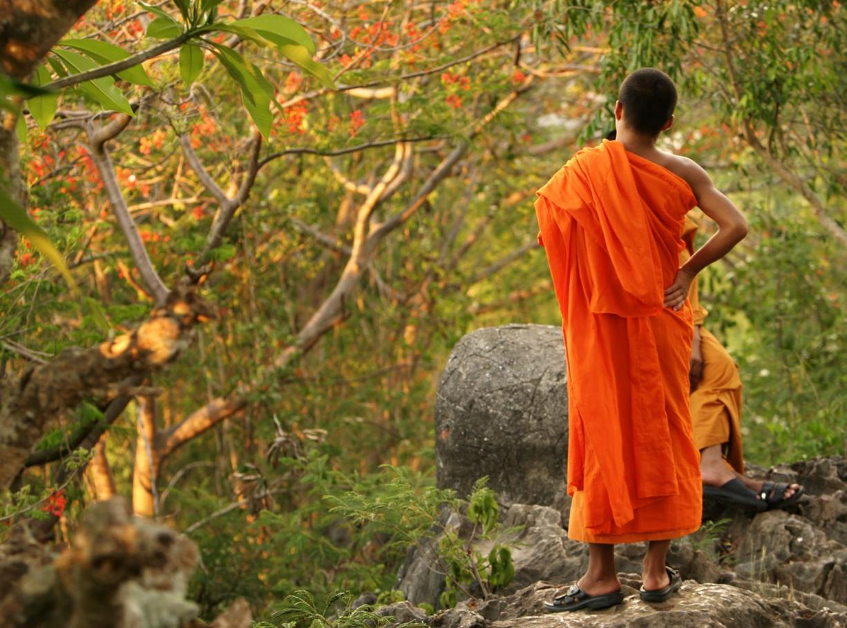 Monk in Laos Hills