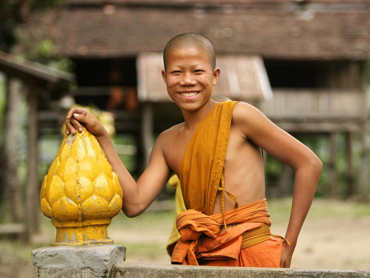 Smiling Boy Monk Laos