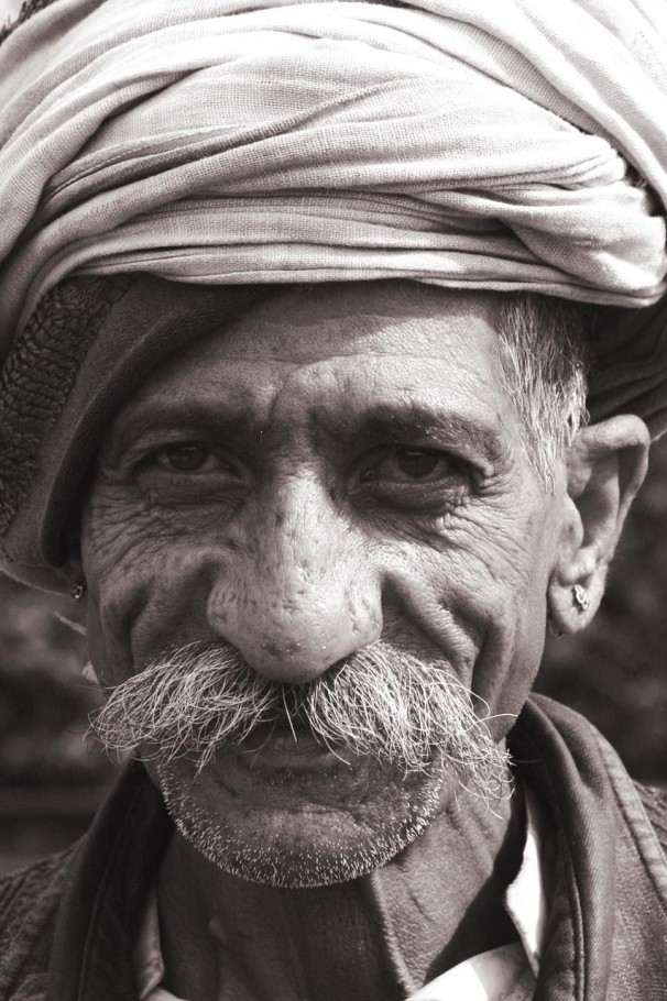 Indian dimpled face