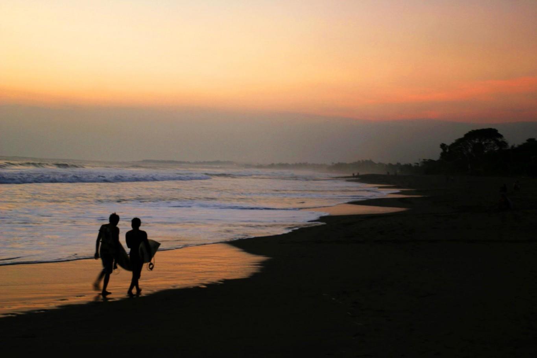 Surf dudes Bali sunset
