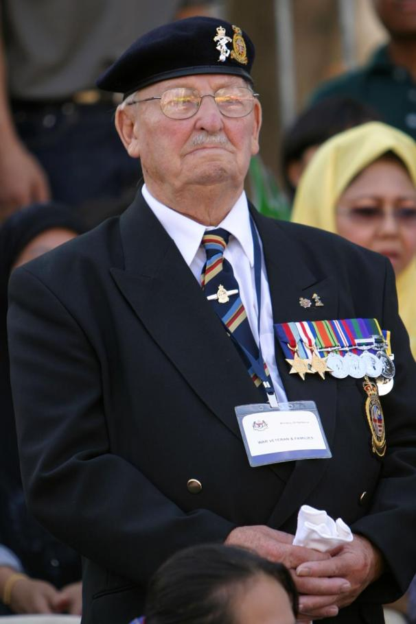 War Veteran with medals