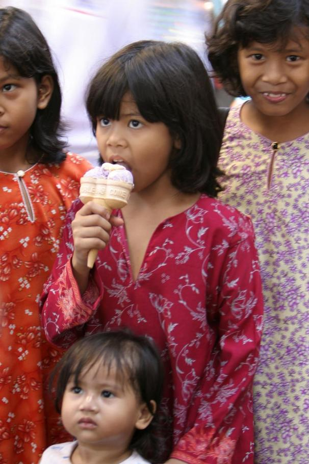 Malay girl with ice cream