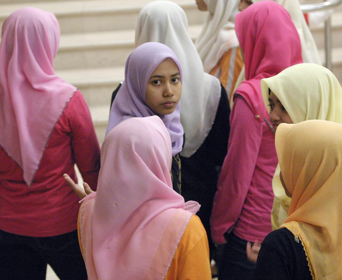 Colourful Malay women