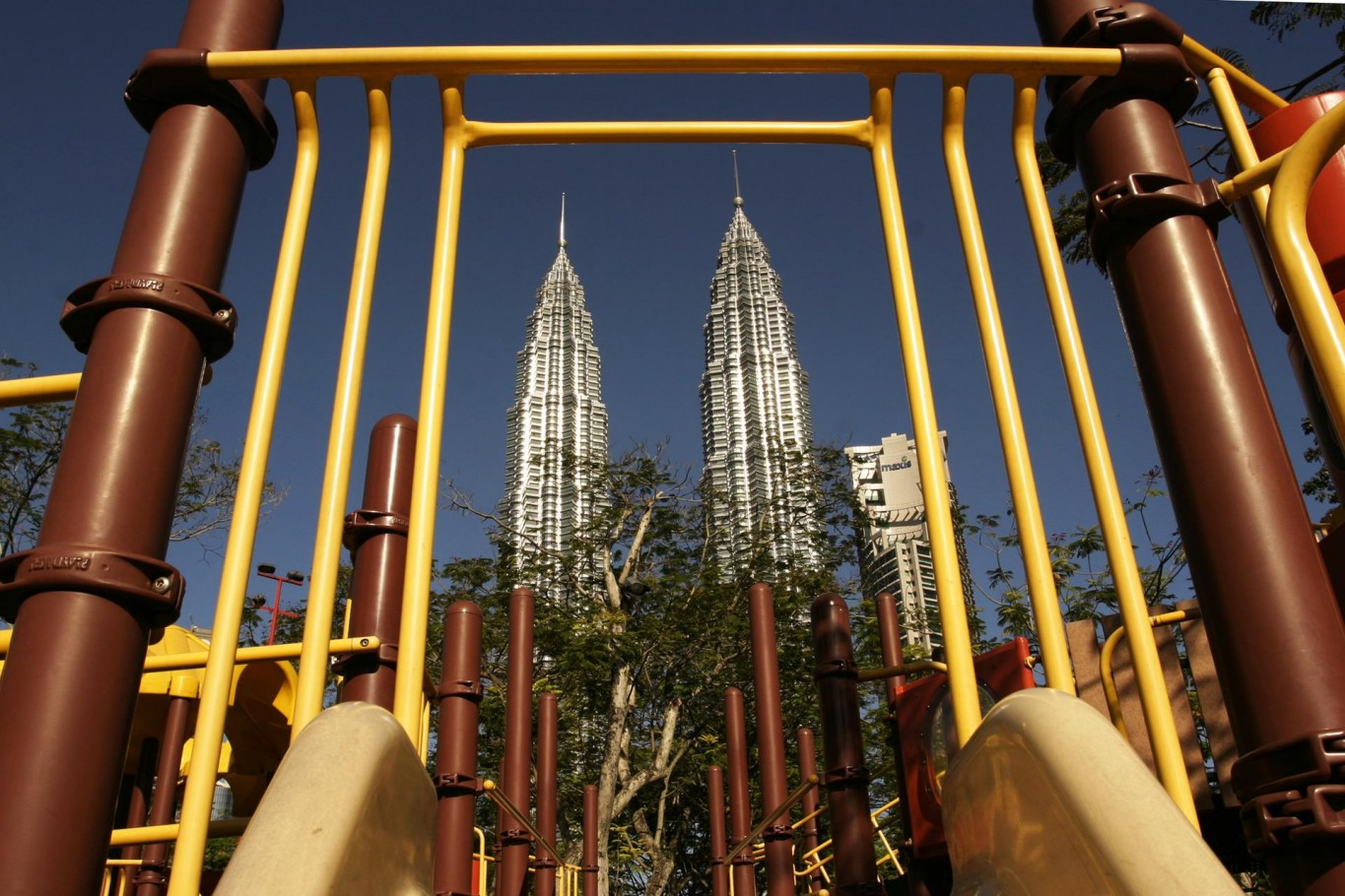 KL Twin Towers from playground