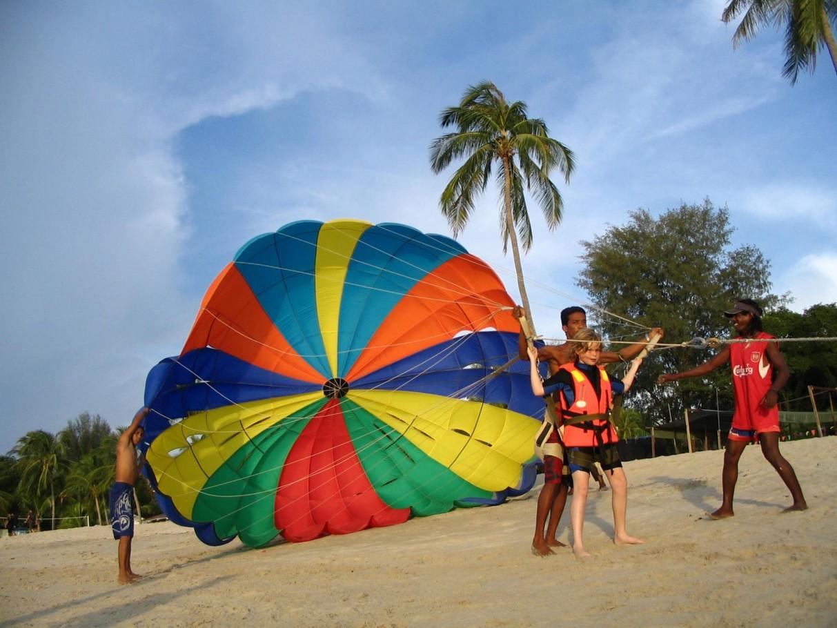 Parasailing Penang Beach