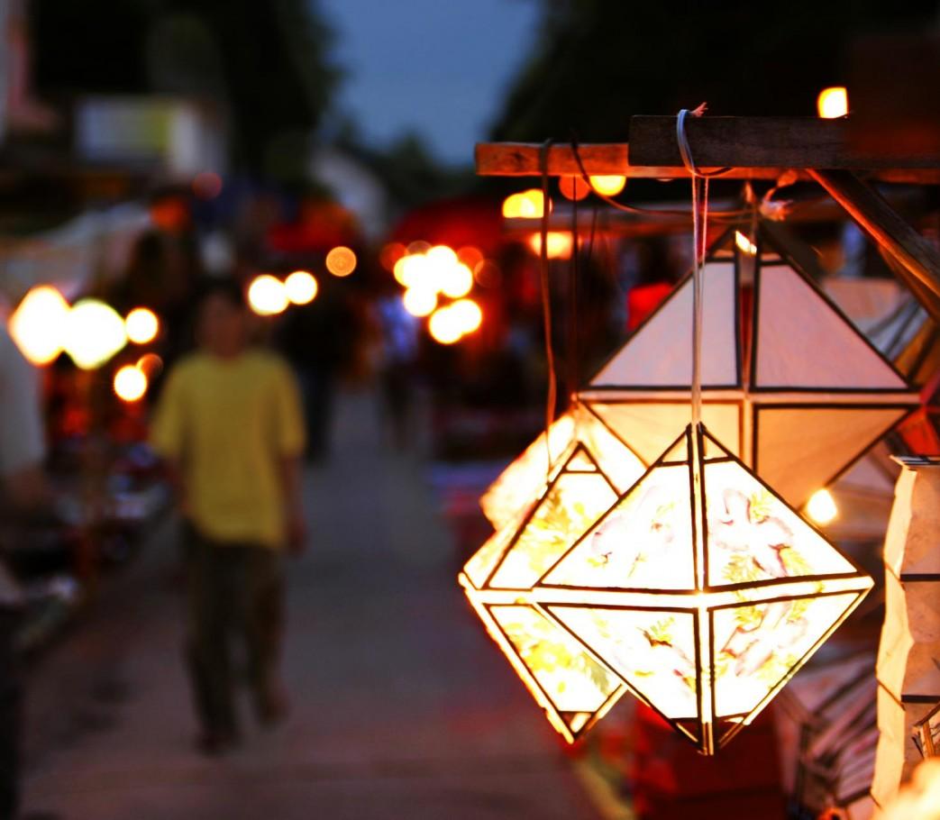Laos street market