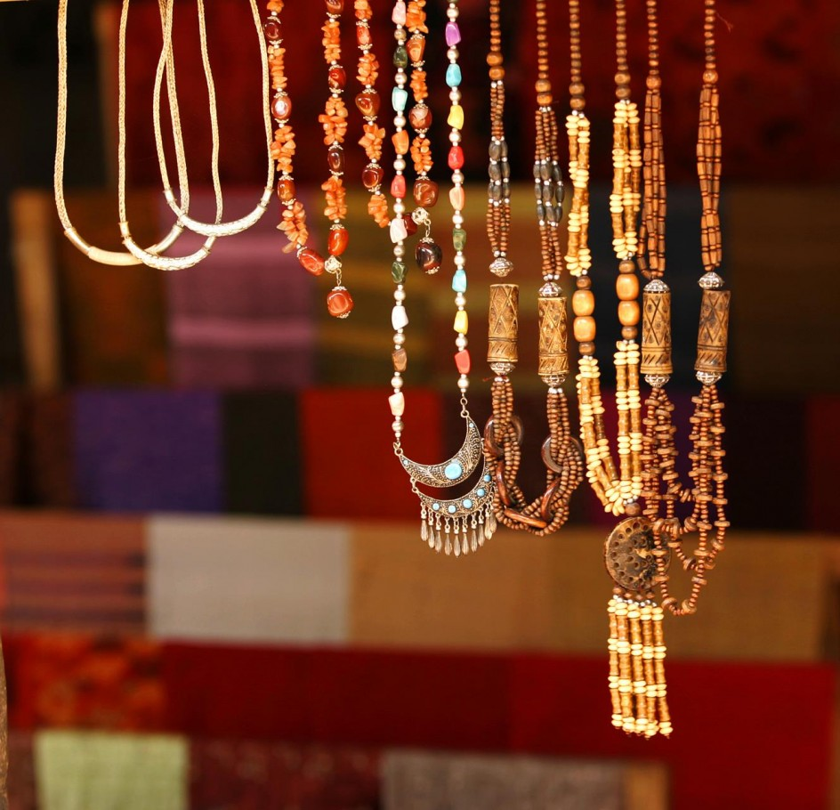 Laotian beaded jewellry