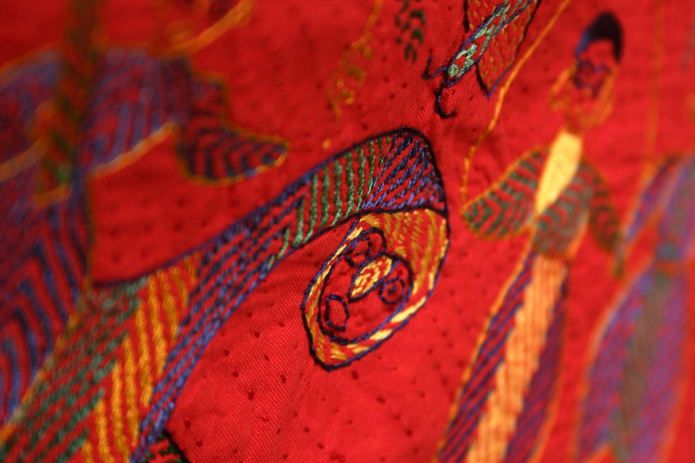Sri Lankan embroidered dragon