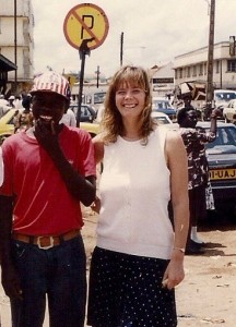Jodfrey and me outside Nakasero market