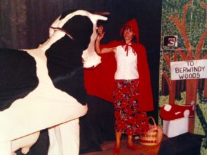 Drippy Little red Riding Hood and Daisy the cow
