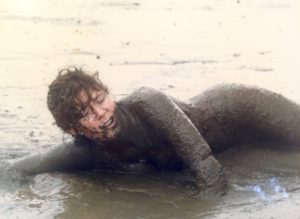 Me struggling at The Mud Olympics
